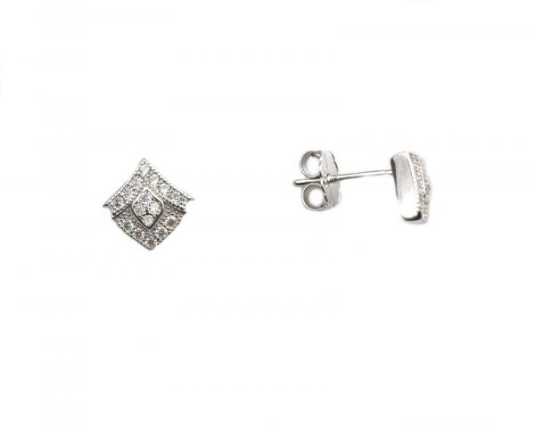 Cercei argint rodiat cu surub - DA134