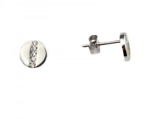 Cercei argint rodiat rotunzi - DA135