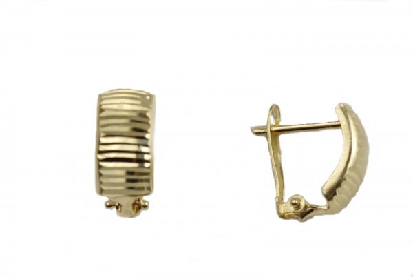 Cercei aur cu dungi - DA09