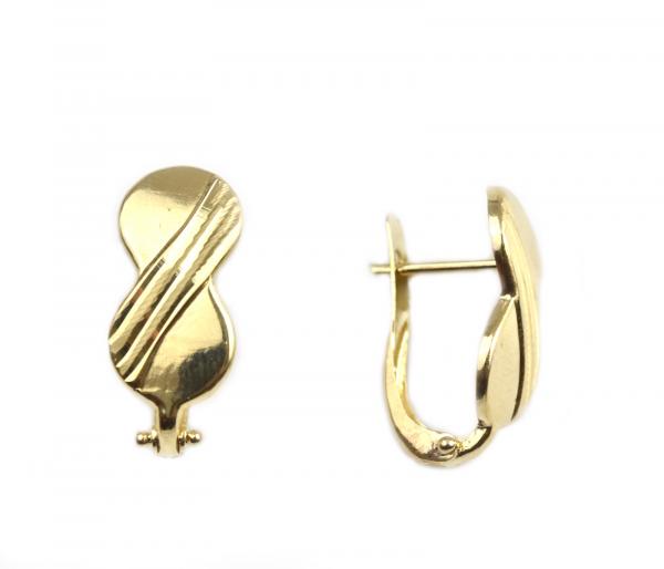 Cercei aur galben opturi - DA35