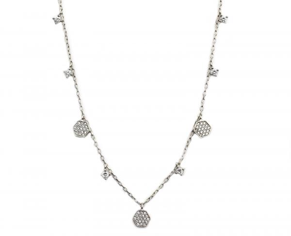 Colier argint rodiat cu pandante - DA114