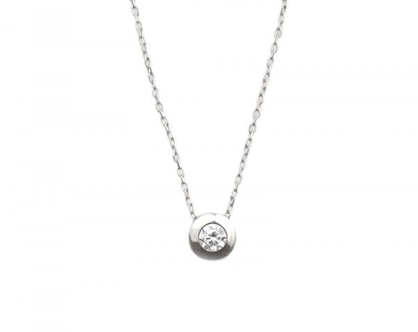 Colier argint rodiat cu zirconiu - DA118
