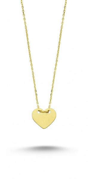Colier aur galben 14k  cu pandant inima - DA231