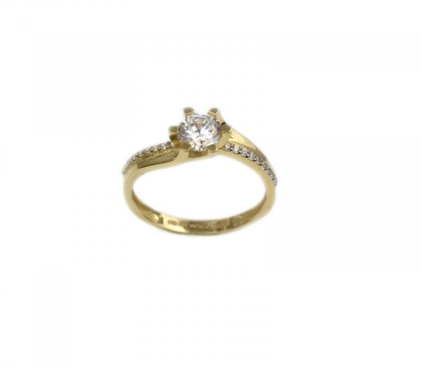 Inel de logodna aur galben cu zirconiu - DA173
