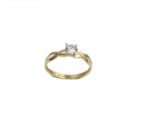 Inel de logodna aur galben cu zirconiu - DA184
