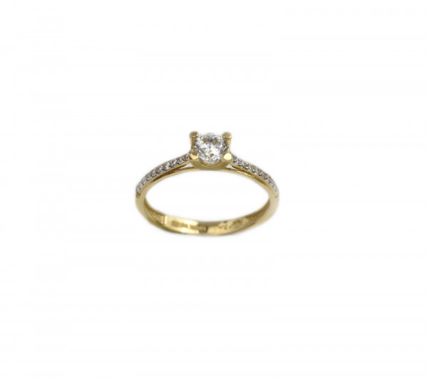 Inel de logodna aur galben cu zirconiu - DA186