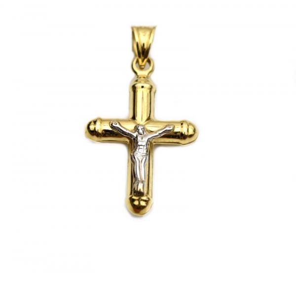 Pandant cruciulita aur galben cu Iisus - DA249