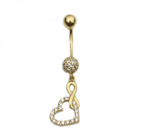 Piercing aur galben buric - DA244