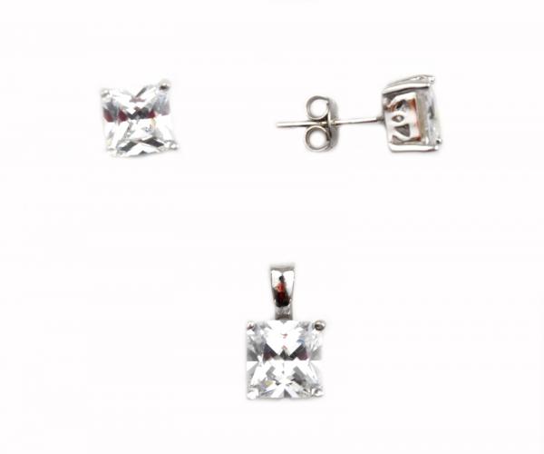 Set argint rodiat cu zirconiu - DA81