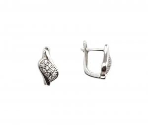 Cercei argint rodiat cu zirconiu - DA207