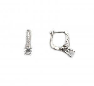 Cercei argint rodiat cu zirconiu - DA208