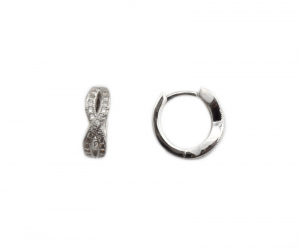 Cercei argint rodiat cu zirconiu - DA211