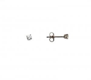 Cercei argint rodiat cu zirconiu mic - DA153