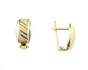 Cercei aur cu linii - DA16