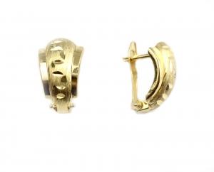 Cercei aur cu model linia vietii - DA15