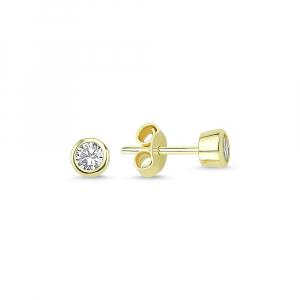 Cercei aur galben bobite cu zirconiu - DA227