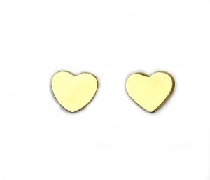 Cercei aur galben inimioare - DA22