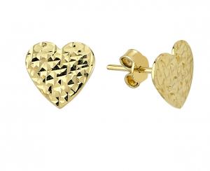 Cercei aur galben inimioare - DA232