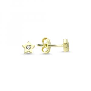 Cercei aur galben stelute cu zirconiu - DA228