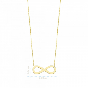Colier aur galben 14k  cu pandant infinit - DA230