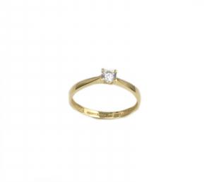Inel de logodna aur galben cu zirconiu - DA175