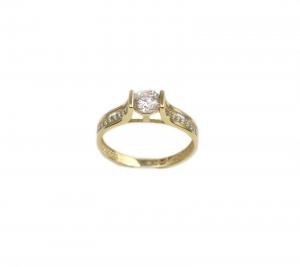Inel de logodna aur galben cu zirconiu - DA176
