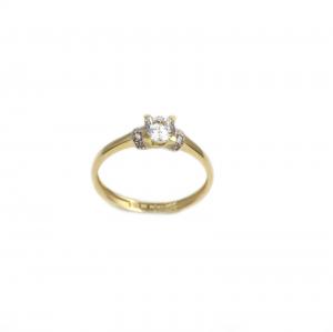 Inel de logodna aur galben cu zirconiu - DA179