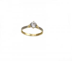 Inel de logodna aur galben cu zirconiu - DA180