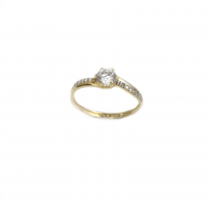 Inel de logodna aur galben cu zirconiu - DA181