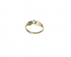 Inel de logodna aur galben cu zirconiu - DA182