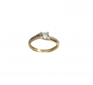 Inel de logodna aur galben cu zirconiu - DA183