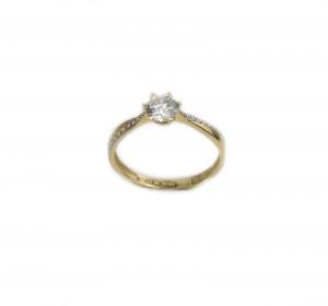 Inel de logodna aur galben cu zirconiu - DA192