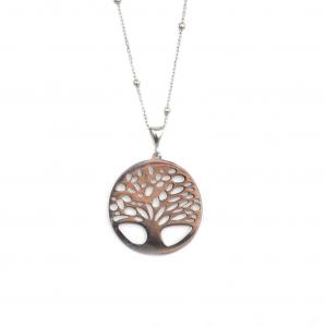 Lant argint rodiat cu pandant copacelul vietii - DA122
