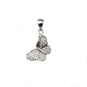 Pandant argint rodiat fluture - DA101