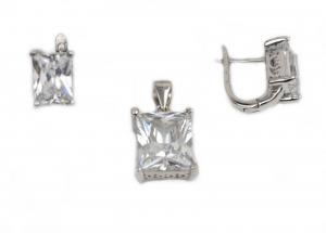Set argint rodiat cu zirconiu - DA219.