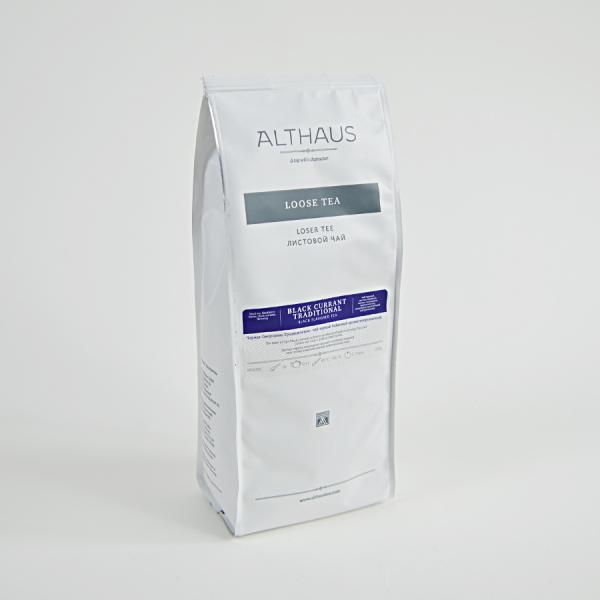 Black Currant Traditional, ceai Althaus Loose Tea, 250 grame