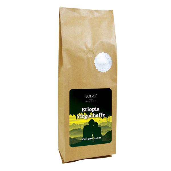Etiopia Yirgacheffe, cafea macinata proaspat prajita Boero, 1 kg