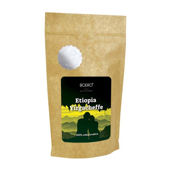 Etiopia Yirgacheffe, cafea boabe proaspat prajita Boero, 250 grame