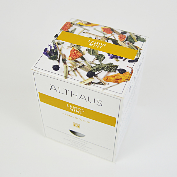 Lemon Mint, ceai Althaus Pyra Packs