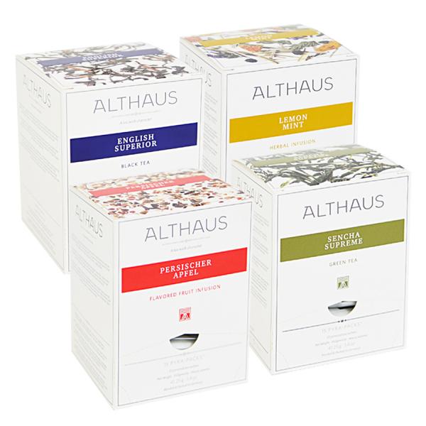 Pachet patru cutii de ceai Althaus Pyra Packs