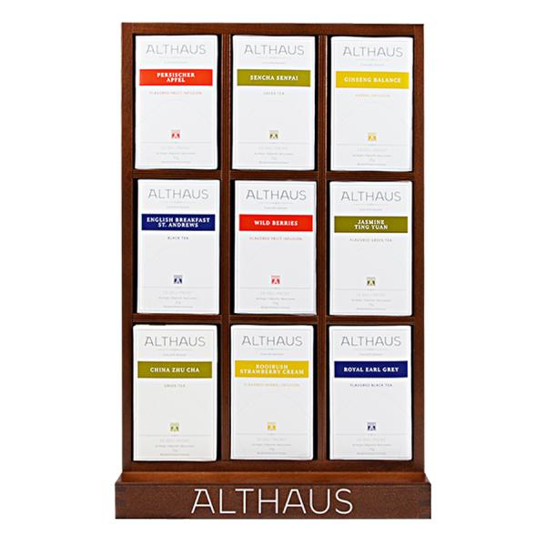 Pachet Display Althaus si 9 cutii ceai Althaus Deli Packs