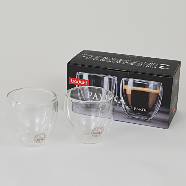 Set 2 pahare espresso cu pereti dubli, Bodum