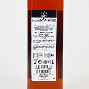 Caramel Sarat, Sirop 1883 Maison Routin, 1L