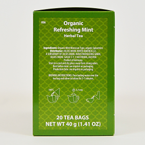 Refreshing Mint, ceai organic Julius Meinl, Big Bags