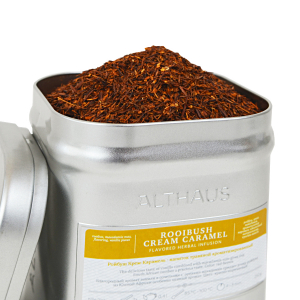 Rooibush Cream Caramel, ceai Althaus Loose Tea, 250 grame