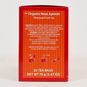 Rose Apricot, ceai organic Julius Meinl, Big Bags