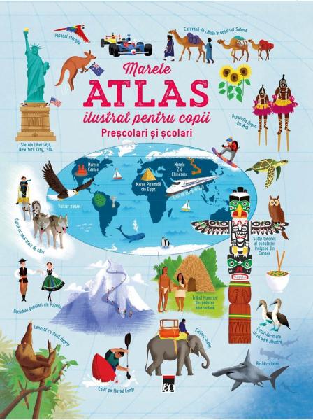 Marele atlas ilustrat pentru copii de Usborne