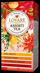 Assorti tea-  ceai negru in asortiment pachetele 24*2g, (4 feluri a cate 6 pliculete)  de la Lovare