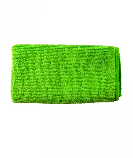 Laveta universala 100 % microfibra verde, 30x30 cm