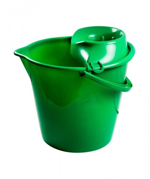 Galeata rotunda 13 L, cu storcator, verde